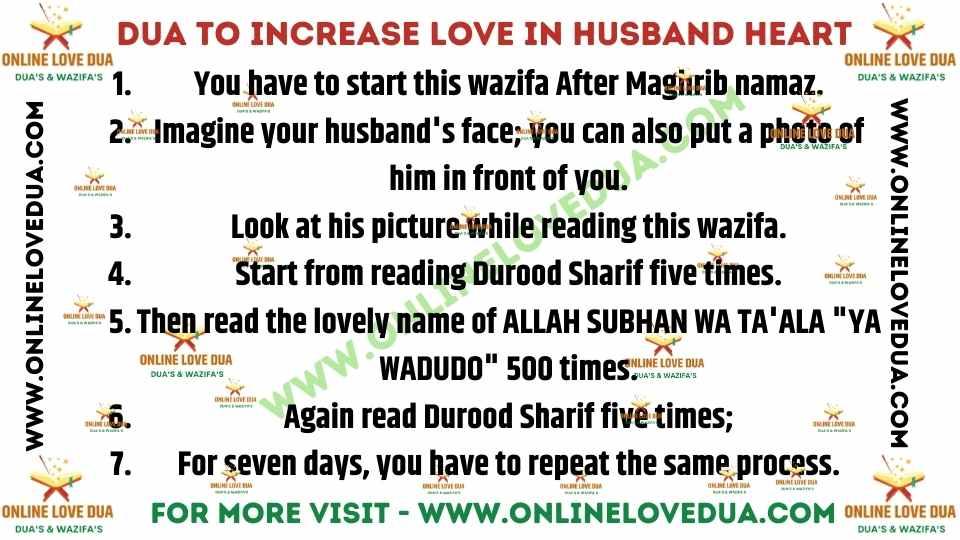 Dua To Increase Love In Husbands Heart