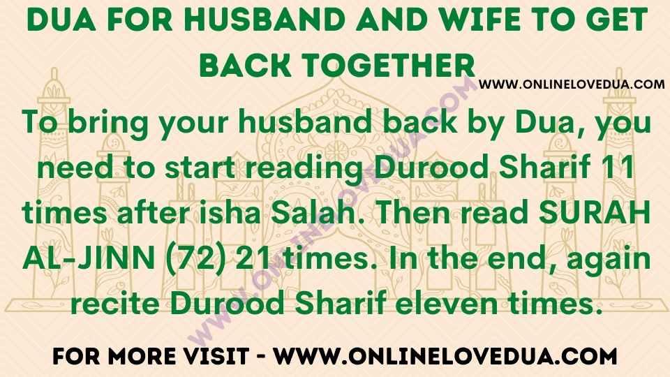 Dua For Husband And Wife To Get Back Together, Dua to bring husband back
