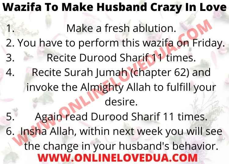 Wazifa To Make Husband Crazy In Love, Powerful Wazifa To Make Husband Crazy In Love, Dua to make your husband loyal, Wazifa for a husband to listen to his wife, Wazifa To Make My Husband Love Me Again,